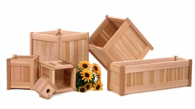 ghivece din lemn