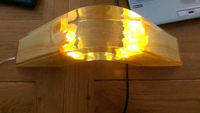lampa cu rasina epoxidica cadou de Mos Nicolae