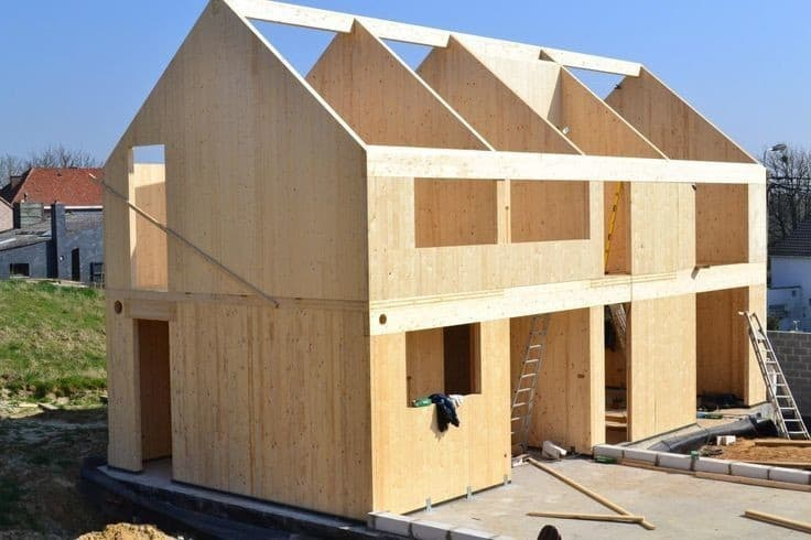 casa construita din CLT