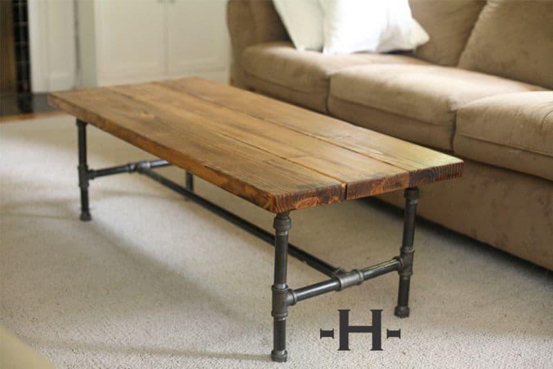flanșe metalice si lemn masiv