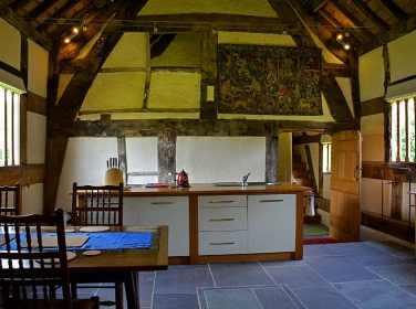 Hacton Cruck Medieval Home elemente curbate