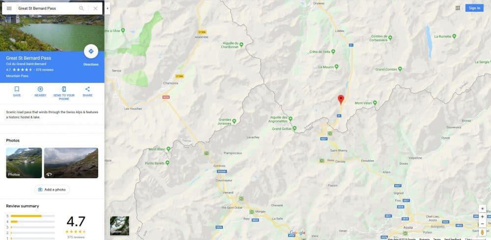 Trecatoarea Saint Bernard din Alpi
