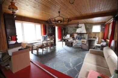 Interior cu lemn si semineu