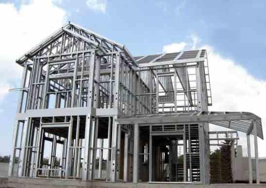 structură din metal pentru case de locuit
