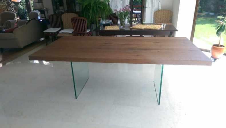 masa Oak Glass 220x100