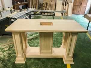 Blaj - Wood IQ - Scaunul Papal - Altarul