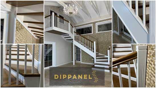 Dippanels - scară interioară cu 3 rampe