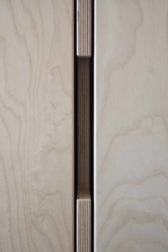 detaliu constructiv de ușă dulap hol