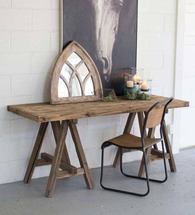 rustic vanity table