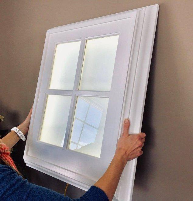 ferestre false din lemn