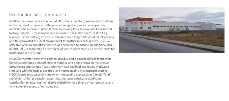 Fabrica HECO de la Campia Turzii