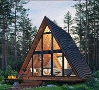 simulare 3D sau reale cabana A-Frame