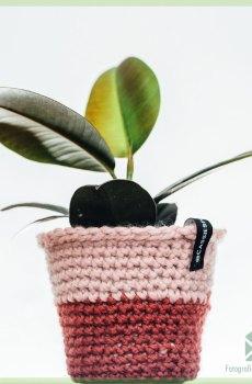 @cassiesplantfulness - gehaakte luxe hippe bloempot plantenpot 12 cm