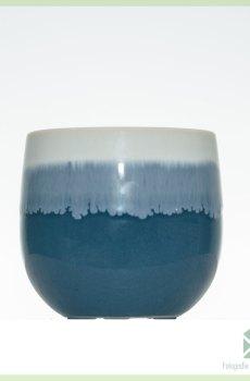 Danish blue plantenpot bloempot sierpot 6 cm