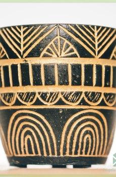 Nebthet gold plantenpot bloempot sierpot 6 cm
