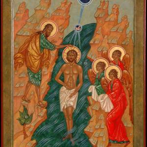 The Baptism of the Lord, 2014, by the hand of Faye Drobnic