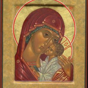 Icon of the Yaroslavl Mother of God, 2009, by the hand of Faye Drobnic
