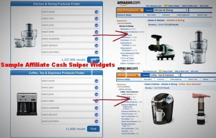 reviews affiliate cash snipers-sample widgets amazon