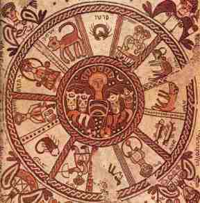 Zodiac in the synagogue at Beit Alpha, Israel