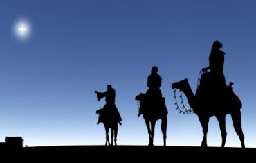 Los tres reyes magos, el portal de Belén y la estrella