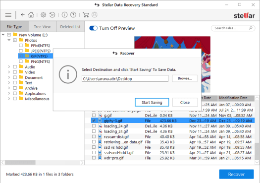 Save Recoverable File