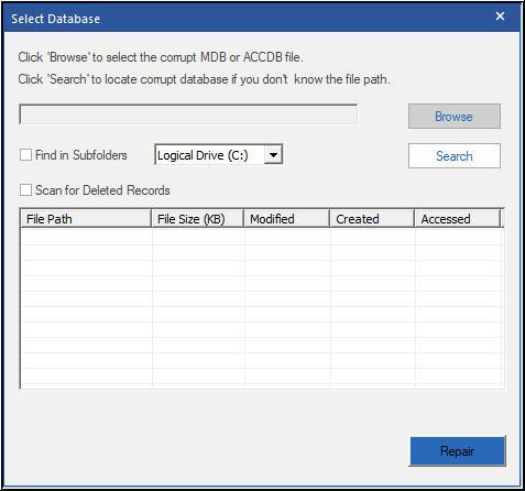MDB Repair Tool – Repair corrupt .MDB file