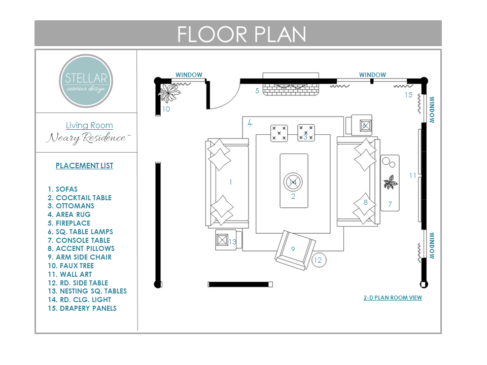 Floor Plans For Living Room E Design Client Stellar Interior Part 51