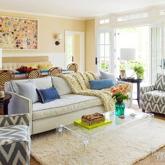 Vogue Chrome Sofa Table Lazy Boy Lancer Reviews Brooke Shields Long Island Home - Stellar Interior Design