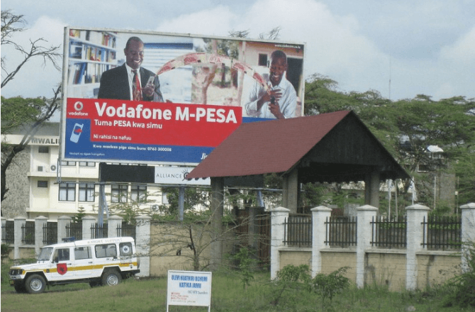 advert for Mpesa