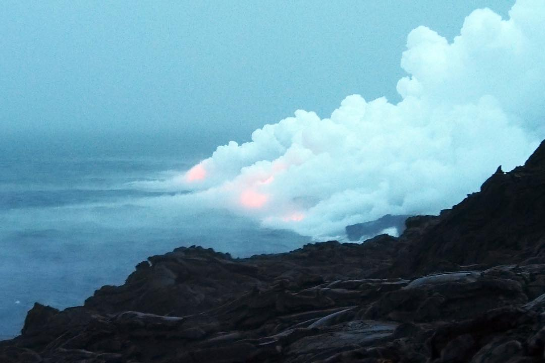 418. When lava meets ocean  |  Kalapana Lava Flow