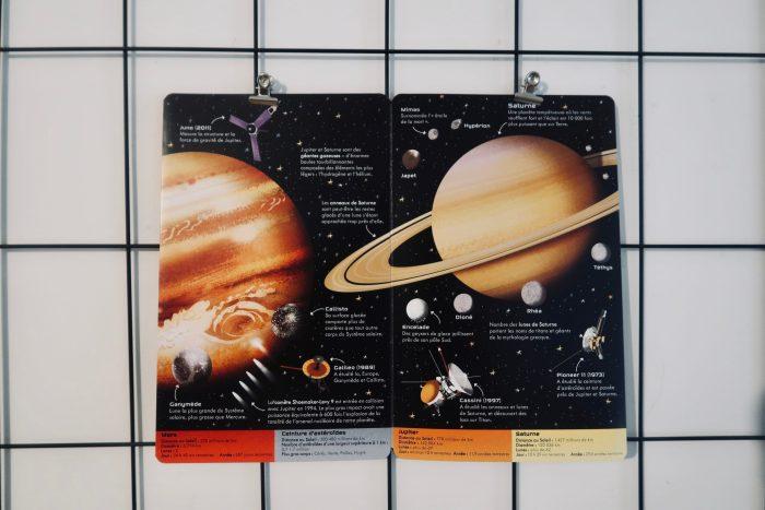 Le système solaire - Coffret livre et puzzle, écrit par Sam Smith et illustré par Peter Donnely- Éditions Usborne.