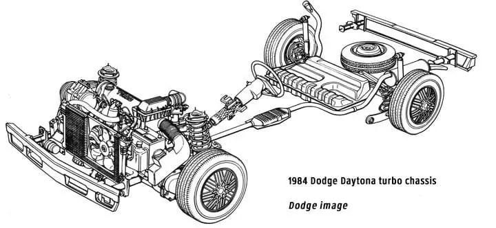 Dodge Daytona Turbo chassis