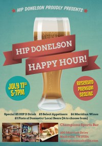 Happy Hour Table Tent - Stelluto Creative