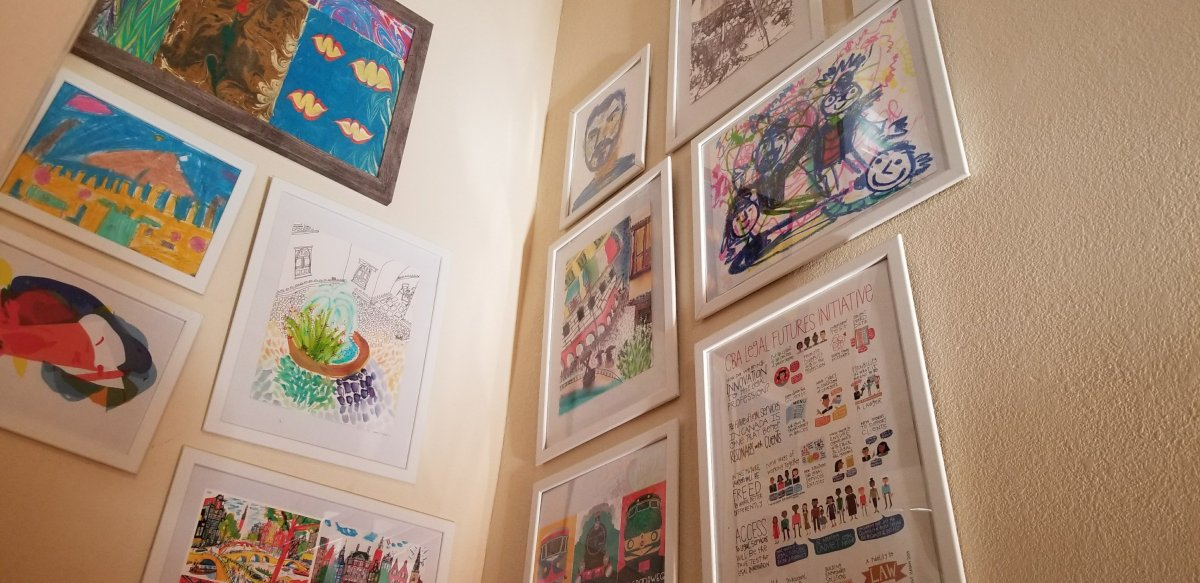 gallery work home we have taken the chance to build our own art gallery in hallway as we go up stairs are slowly covering wall space with framed works of making home stem family