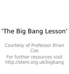 The Big Bang Lesson *suitable for home teaching*   STEM [ 768 x 1024 Pixel ]