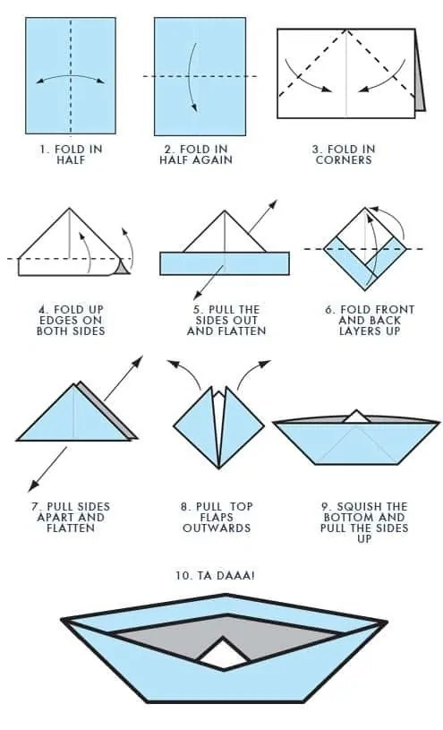 How to make an Origami Boat | STEM Little Explorers