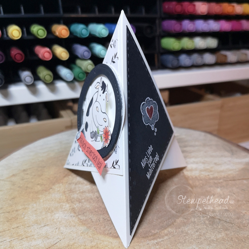 Fun Fold teepee card kuhle grüsse von stampin' up! made by stempelhead