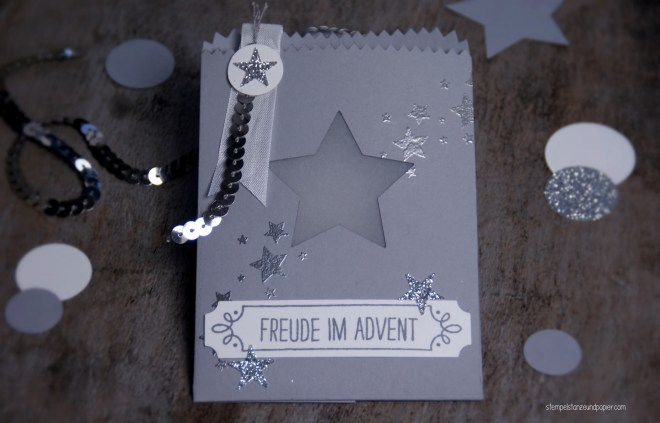 Mini Adventskalender embossing