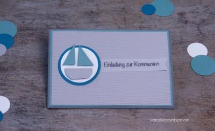 Kommunion Einladung Schiff