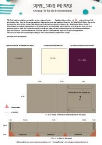 Anleitung für die Flip Top Box Pralinenschachtel
