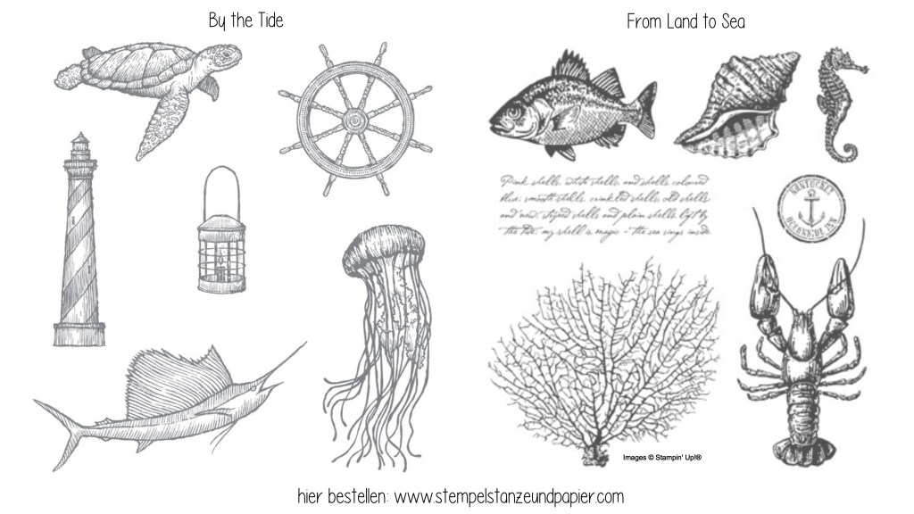 Stampin Up Stempelsets By the Tide und From Land to Sea_stempelstanzeundapier