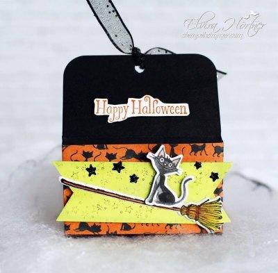 Kater Azrael am Besen-Halloween 2018-Cauldron Bubble-Stampin Up-Happy Halloween-Hexenbesen