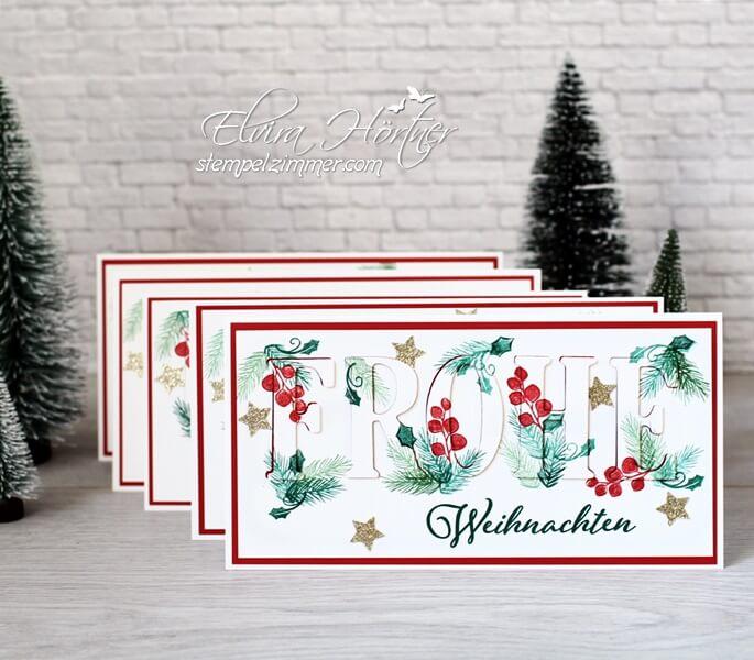 Frohe Weihnachten-Weihnachtskarte-Floating Letters-Besinnlicher Advent-Stampin Up