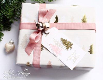 Geschenkverpackung-Weihnachtspapier von Depot-Stempel von Stampin Up-Stempelzimmer-Elviras Stempelzimmer