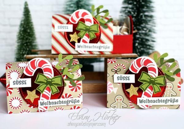 Lebkuchenverpackung mit der Zuckerstange-Zuckersuesse Weihnachten-Stampin Up-Suesse Weihnachtsgruesse-Stempelzimmer-Elvira Hoertner
