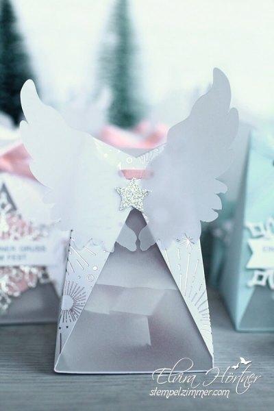 Weihnachtsengel mit Fluegel-Rueckseite-Verpackung fuer Kokoskugeln-Stampin Up-Goodies-Mitbringsel fuer die Festtafel
