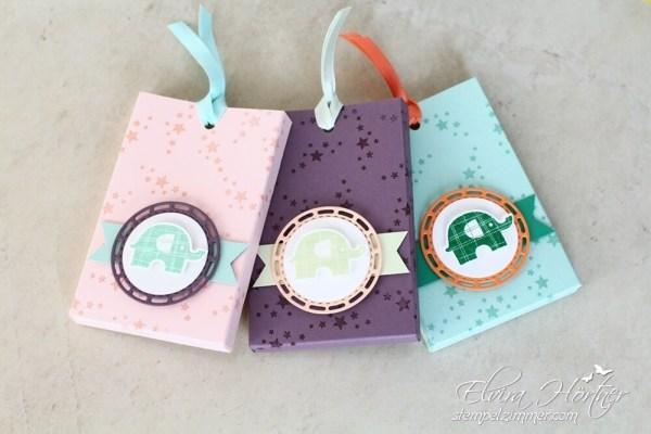 Bunt wie ein Regenbogen-Elefantastisch-Verpackung-Kindergeburtstag-Stampin Up