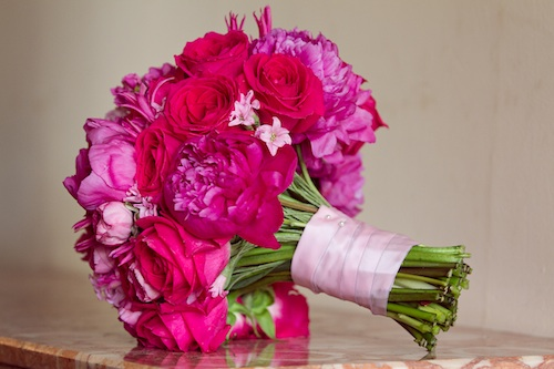 Shades of pink handtied bouquet resized for website