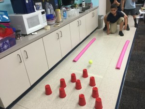 learning about motion through a bumper bowling mystery