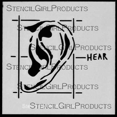 Journal Sense Hear Stencil